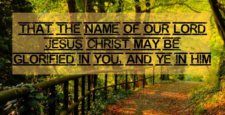glorified in him