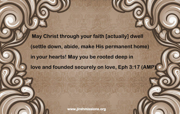 Faith brings Christ closer to you