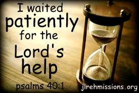 Waiting for the Lord....