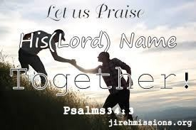 Lets praise together....