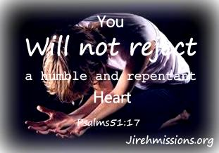 A repentant heart...