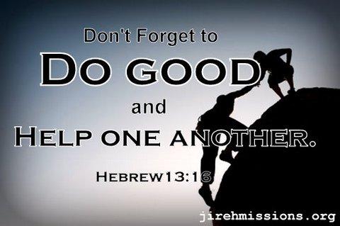 Do good...